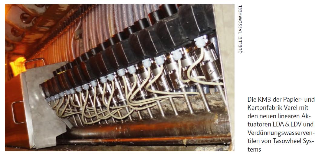 Automatisierung der Verdünnungswasserregelung an der KM3 der Papier- und Kartonfabrik Varel 2015